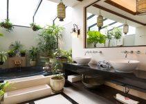 bagno stile tropicale